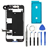 iPhone 8 4.7'' Full Screen Replacement LCD Touch Assembly Front Camera Earpiece Speaker Shield Plate with Frame Adhesive and Repair Tools (Black)