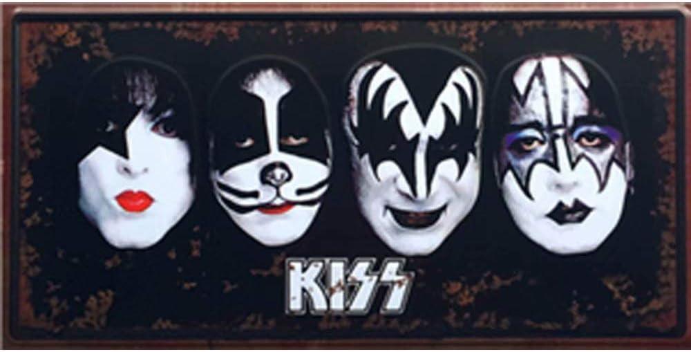 NOT Kiss Tin Wall Sign Retro Metal Poster Plaque Hanging Warning Vintage Art Yard Garden Signs Band Cafe Bar Pub Stadium Cinema Store Gift