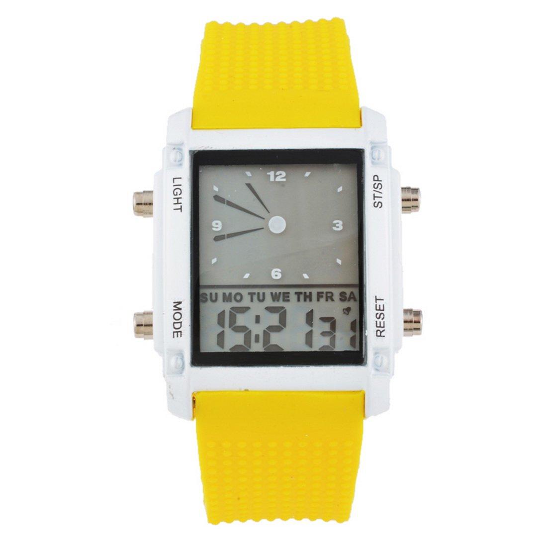 loweryeahカラフルLuminous Watch二重表示電子腕時計LEDスポーツウォッチ26 cm B07BTCBS7L