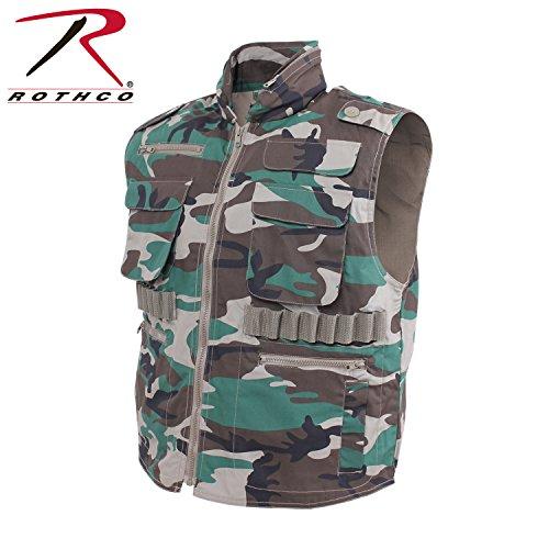 Woodland Ranger Vest - Rothco Ranger Vest, Woodland Camo, 3X