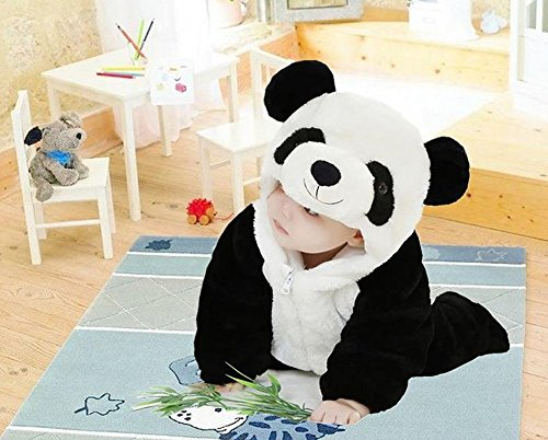 f8ebd07a4 Eden Babe Unisex-baby Winter Flannel Romper Panda Onesie - Import It All