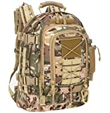 WolfWarriorX Military Tactical Assault Backpacks 3-Day Expandable Waterproof Water Resistant Molle Rucksack Camo Bug Out Backpack Outdoors Camping Hiking Trekking Daypack