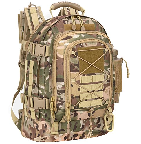WolfWarriorX Military Tactical Assault Backpacks 3-Day Expandable Waterproof Water Resistant Molle Rucksack Camo Bug Out Backpack Outdoors Camping Hiking Trekking Daypack from WolfWarriorX