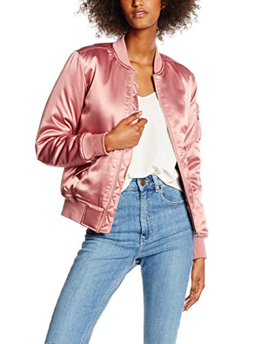 Satin Femme Jacket Ladies Rosa Bomber Classics 738 Urban Blouson Rose Oldrose qaP1Ew