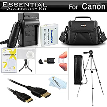 Amazon.com : Essential Accessories Kit for Canon Powershot ...