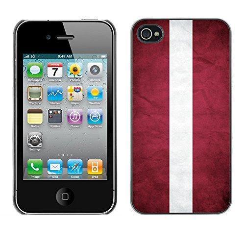 Omega Case PC Polycarbonate Cas Coque Drapeau - Apple iPhone 4 / 4S ( Latvia )