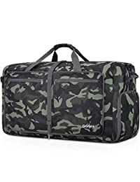 FAJRO Gym Bag Travel Duffel Express Weekender Bag Silver Color Elegant Flower Pattern Carry On Luggage with Shoe Pouch