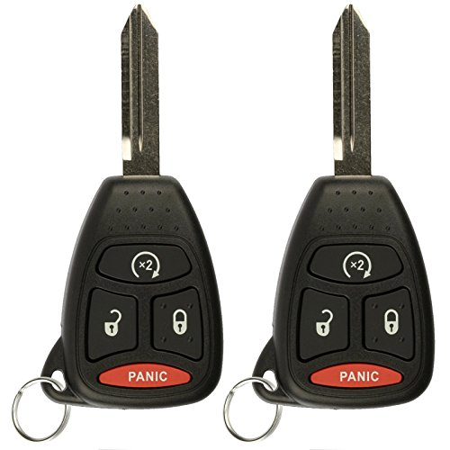 KeylessOption Keyless Entry Remote Start Control Car Key Fob Replacement for KOBDT04A (Pack of 2) (Dodge Nitro 2008 Key)
