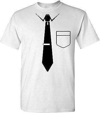 Camisetas para divertido cuello corbatas corbata T novedad ...