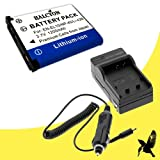 Kodak KLIC-7006 Lithium Ion Replacement Battery and Wall Charger with Car Charger Attachment for Kodak Easyshare Mini M200, M23, MD30, M522, M530, M531, M532, M550, M552, M575, Touch M577, M580, M583, M873, M883 Zoom Digital Cameras DavisMAX Kodak KLIC700