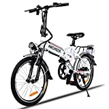 Bicycle Electric Folding Bike 250W 19 Inch White