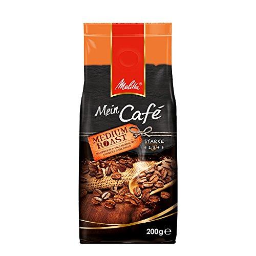 Melitta Ganze Kaffeebohnen, samtweich und vollmundig mit nussigen Anklängen, mittlerer Röstgrad, Stärke 3, Mein Café Medium Roast, 200 g