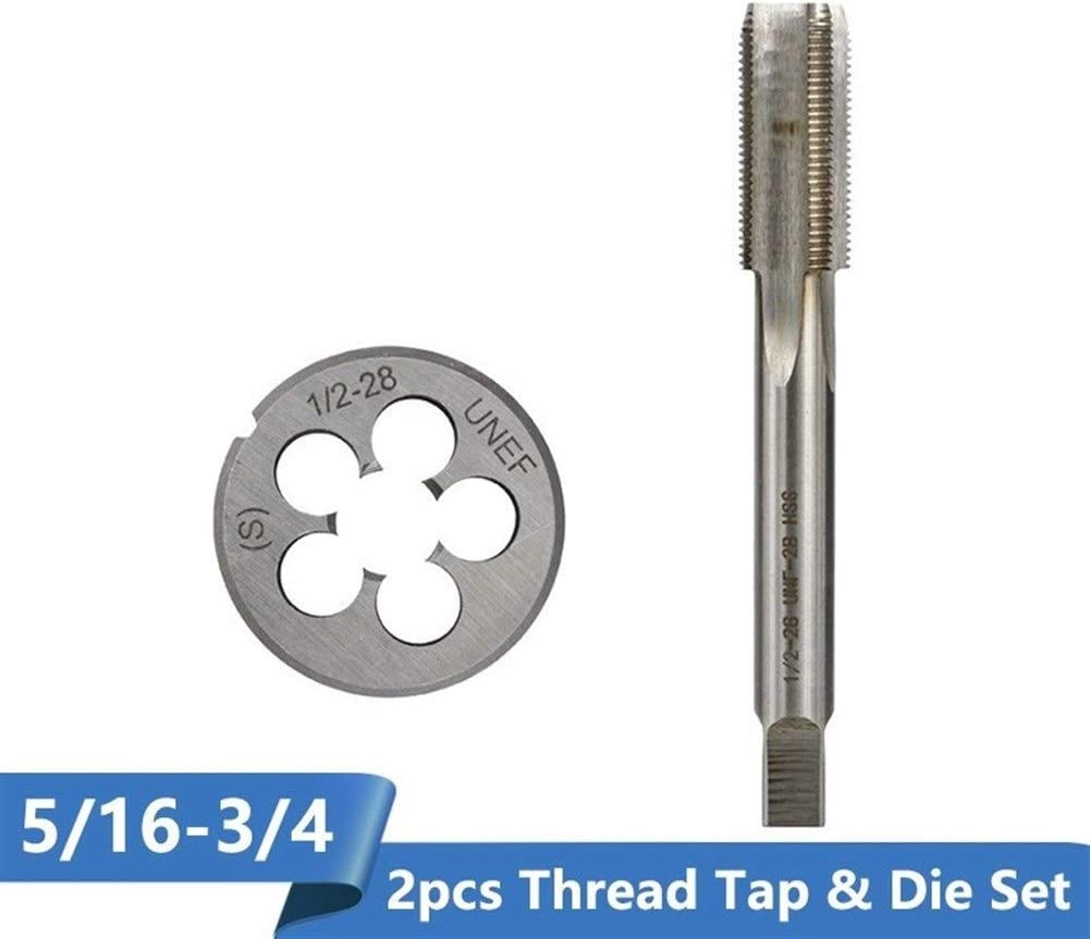 Color : 7l16 14 UNC 2pc Set SHENYUAN 2pcs Thread Tap and Die Set Machine Plug Tap High Speed Steel Metal Tapping Tool Set Screw Die Tap Drill