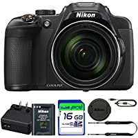 Nikon COOLPIX P610 Digital Camera with 60x Optical Zoom and Built-In Wi-Fi (Black) + Pixi-16GB Accessories Bundle - International Version Noticeable Review Image