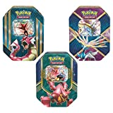 Heroic Pokémon-EX Power Up! Trading Card Game Collector's Edition Green Pack Tins: Volcanion-EX, Gyarados-EX, Xerneas-EX