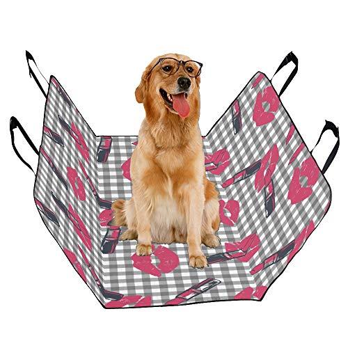 - MOVTBA Fashion Oxford Pet Car Seat Lip Balm Lipstick Daily Necessities Waterproof Nonslip Canine Pet Dog Bed Hammock Convertible for Cars Trucks SUV