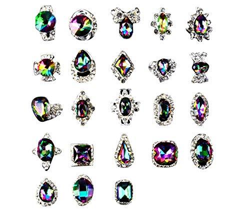 文献最近ケイ素Tianmey ラインストーンクリスタルガラス、金属宝石ストーンズマニキュアネイルアートデコレーショングリッターチャーミング3D DIYネイルアートのヒント