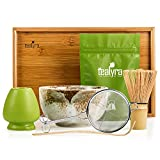 Tealyra - Matcha - Connoisseur Ceremony Start Up Kit - Complete Matcha Green Tea Gift Set - Imperial Matcha Tea Powder - Japanese Made Beige Bowl - Bamboo Whisk Scoop and Tray - Holder - Sifter