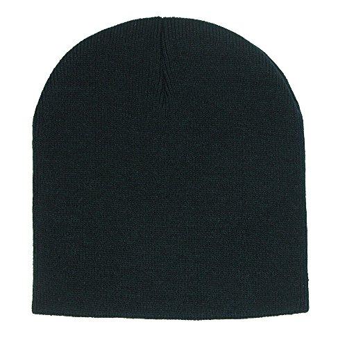 CTM 8 inch Knit Beanie Cap, (Black Toque)