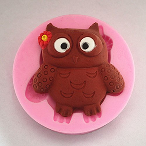 (Mold Owl - Carton Owl Shape Fondant 3d Molds Silicone Candle Sugar Craft Chocolate Moulds - Plaque Paint Heels Shower Heart Puzzle Fondant Mermaid Cookies Piece Brush Peanut Purse Butter Sphe)