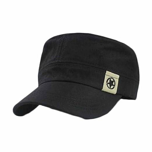 Shybuy Cadet Army Cap Basic Everyday Military Style Hat Patrol Bush  Baseball Cap (Black 0e5722732fb