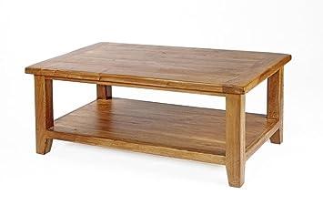 Neo Petite Table Basse Avec Etagere En Chene Massif Rustique