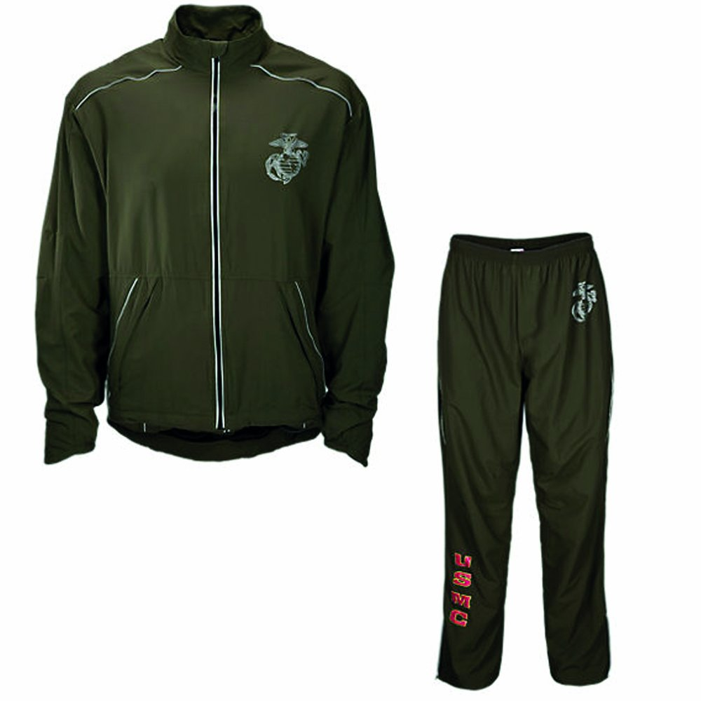 38f26d69ccfcc Amazon.com: New Balance US Marine Corps Running Tracksuit Jacket/Pants  (Small Long): Clothing