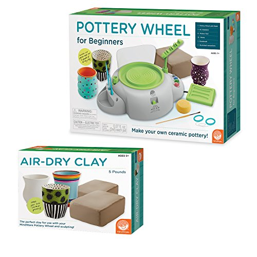 Pottery Wheel For Beginners with Clay Refill by MindWare