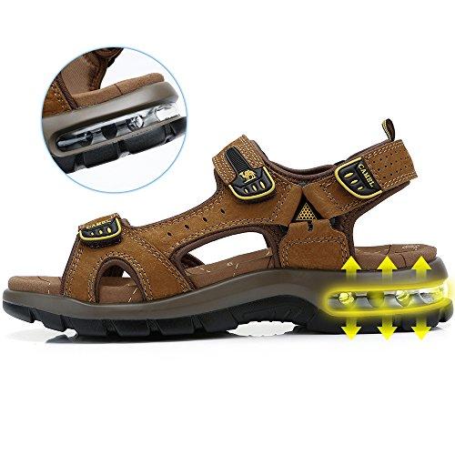 Playa Perfecto para de Casual Sneaker Zapatos Verano al para Agujero Hombres Libre Aire la Transpirable con en Viajar Brown Sandalias Caminar gFPUwvqnq