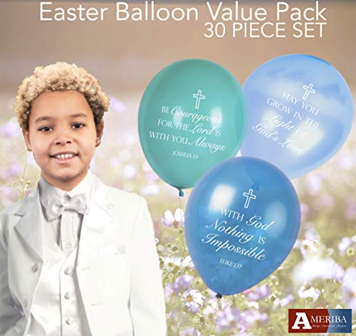 Christian Celebration with Baptism Balloons, Holy Communion Balloons for Bible School, Church Events, Easter (Heavens -
