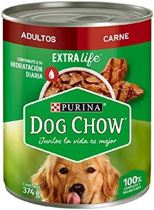 Dog Chow Alimento Húmedo Festival de Trozos de Carne Adultos 12 Latas 2