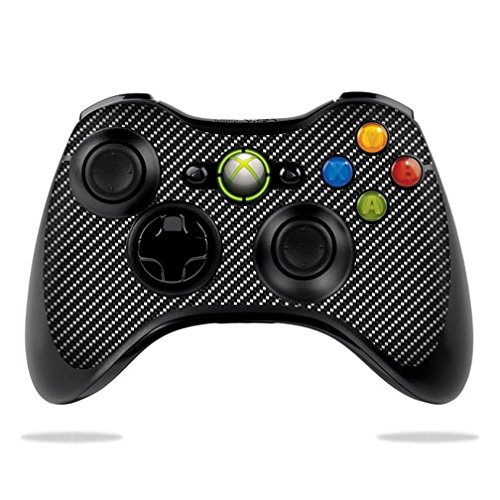 MightySkins Skin For Microsoft Xbox 360 Controller – Carbon Fiber Protective, Durable, and Unique Vinyl Decal wrap cover | Easy To Apply, Remove, and Change Styles | Made in the USA