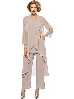 Amazon.com: Aesido Mujer 3 Piezas Pantalones Trajes Formal ...