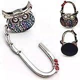 ROFLYER Night Owl Style Butterfly Pattern Design Shoulder Handbag Hangers Folding Purse Holder Hooks