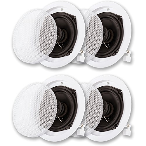 Acoustic Audio R191 In Ceiling / In Wall Speaker 2 Pair Pack 2 Way Home Theater 800 Watt R191-2PR by Acoustic Audio by Goldwood