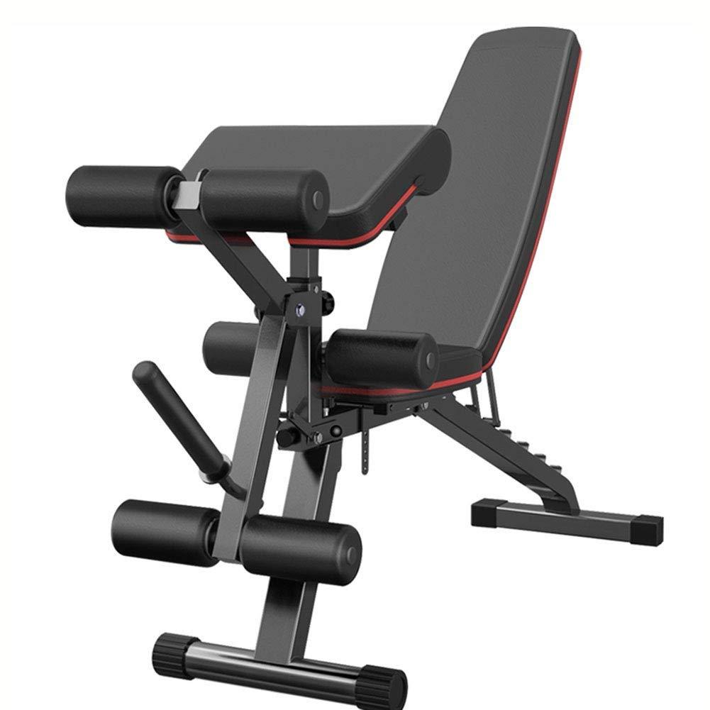 トレーニングベンチ ホームジムのための調節可能な/折りたたみ式実用的なベンチ、足の開発者が付いている男女兼用の大人の重量のベンチ、平らな傾斜は多目的の練習を辞退します   B07PWTS5QG