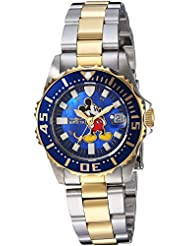 Invicta Womens Disney Limited Edition Quartz Stainless Steel Casual Watch, Color:Two Tone (Model: 25573)