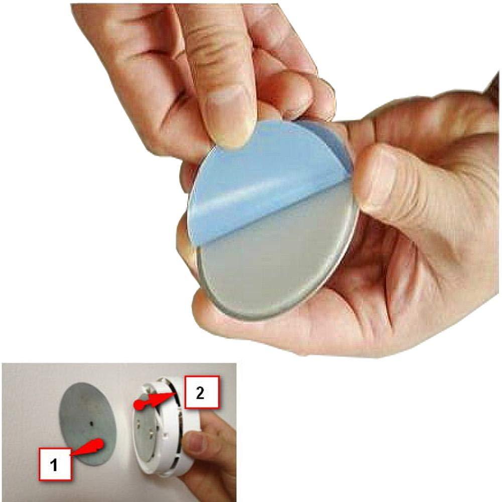 ECENCE 5X Fixation pour Petit Mini d/étecteur de fum/ée Aimant Support magn/étique Plaquette aimant/ée Alarme de fum/ée /Ø 50mm 71010102