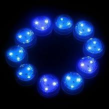 Generic 10 Pcs Blue Color Submersible LED Tealight Light Underwater Light Christmas Party Decoration