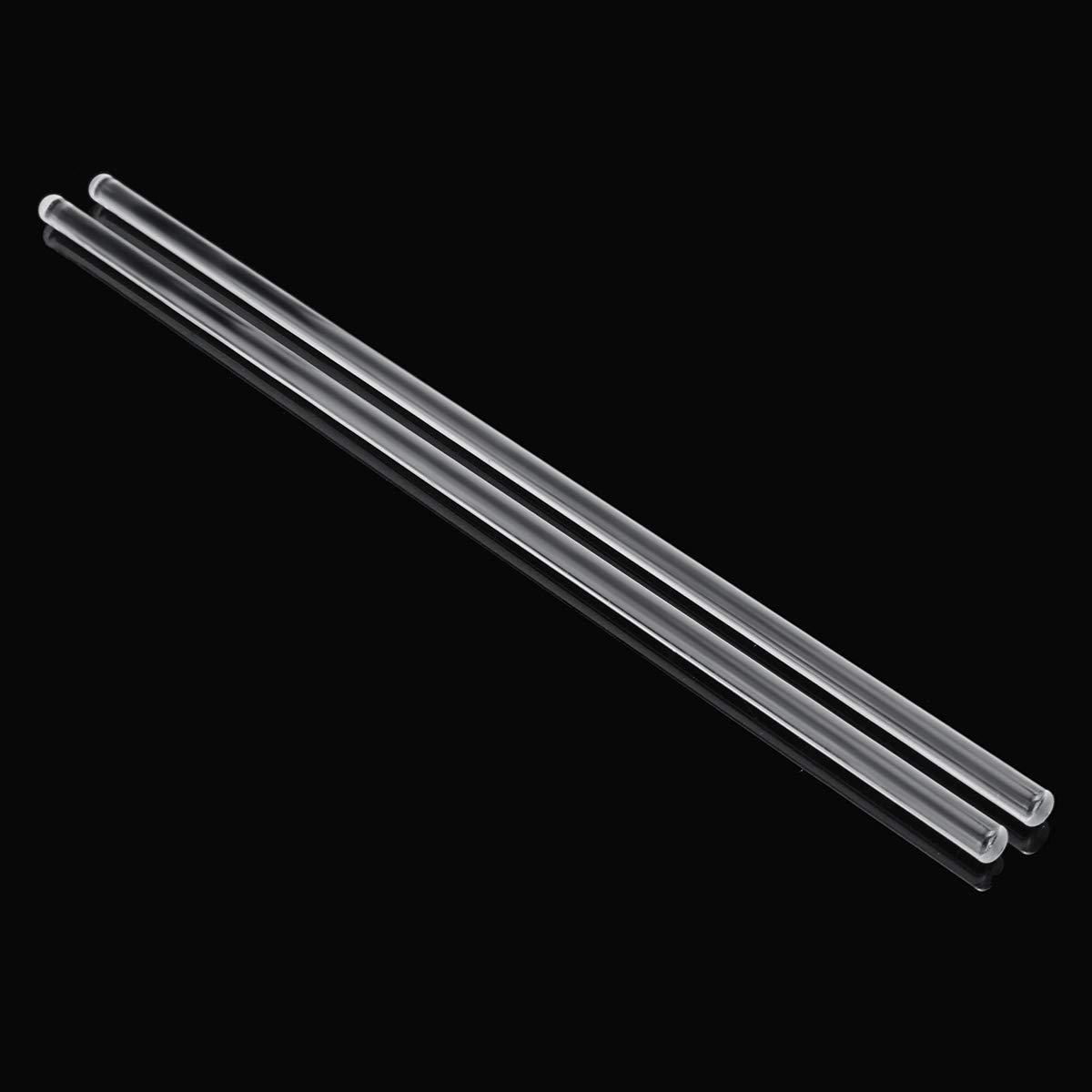 CocinaCo 2Pcs 250mm Glass Stirring Mixing Rod Stirrer Mixer Sticks Rods Laboratory Experiment Glassware