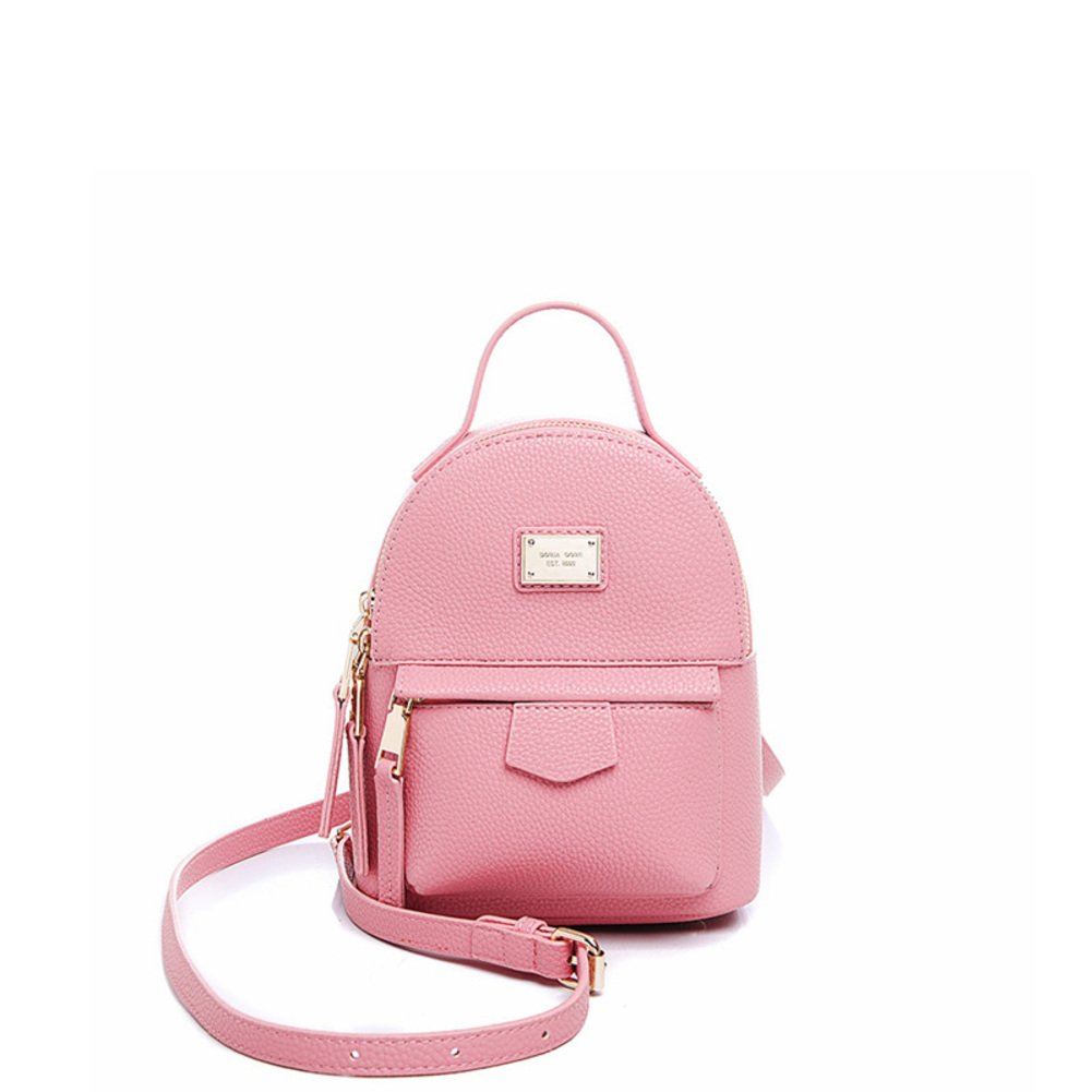 Mini backpack/Korean version vogue Candy-colored backpack/ tumble Pu bag/ School of leisure air backpack-C