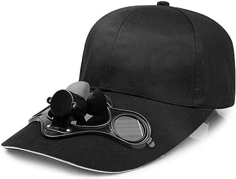 Gorra de ventilador de energía solar Gorra de béisbol de golf Gorra unisex con ventilador solar