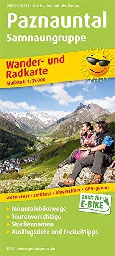 paznauntal-samnaungruppe-wander-und-radkarte-mit-ausflugszielen-freizeittipps-wetterfest-reissfest-abwischbar-gps-genau-1-35000-wander-und-radkarte-wurk