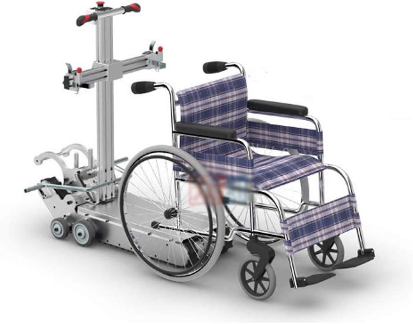 MJ-Brand Silla de Ruedas Inteligente para Subir escaleras en la Escalera Portátil Completamente Plegado Desmontable escaleras Arriba máquina de Escalada para Ancianos para Ancianos