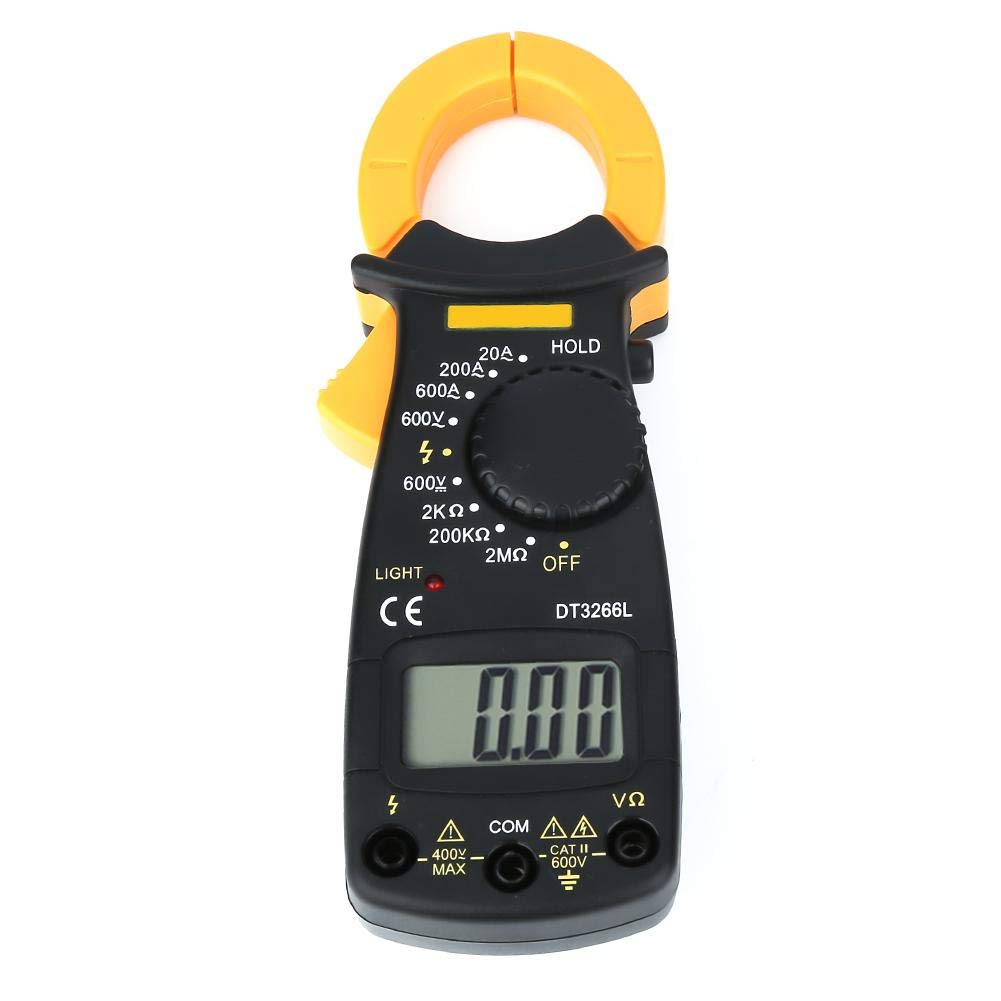 Akozon Clamp Multimeter DT3266L Digital-LCD-Bildschirm Spannung Strom Widerstand Tester AC/DC Portable Spannungsprüfer -1999 maximale Anzeigewert