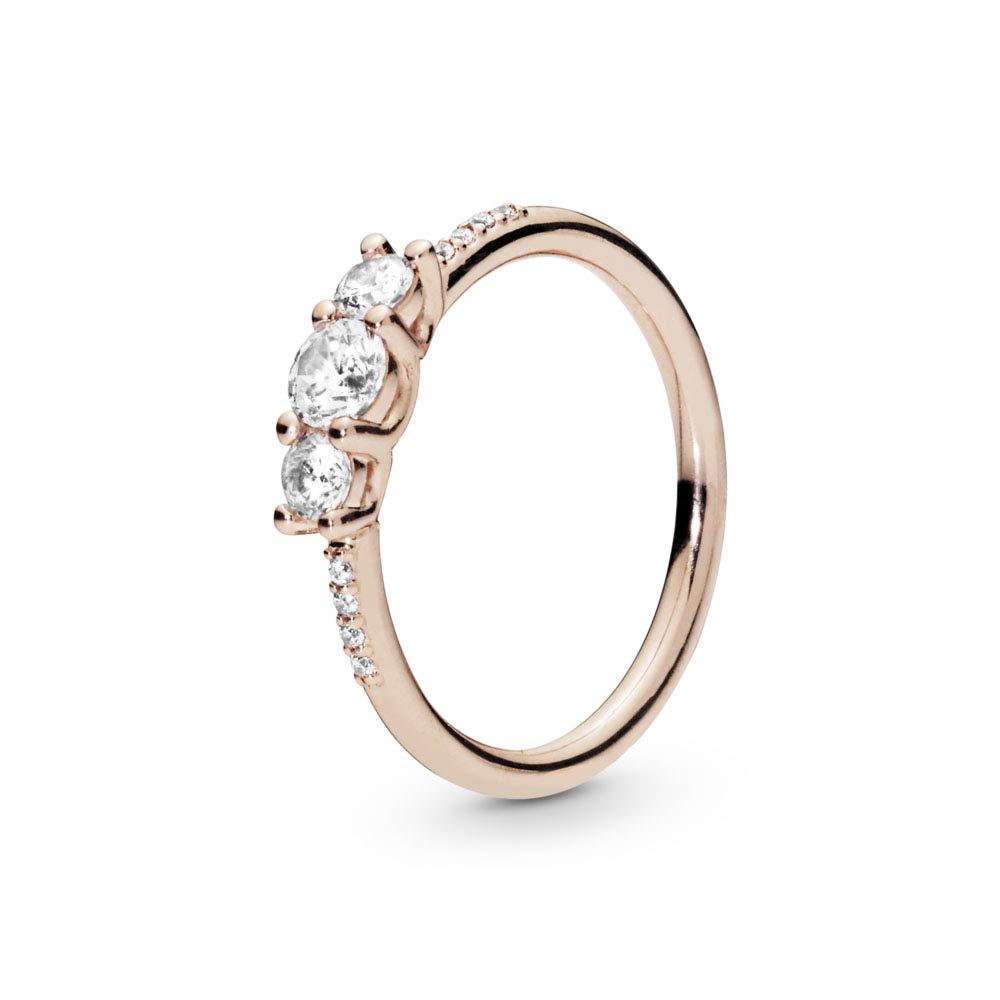 PANDORA Sparkling Elegance PANDORA Rose Ring, Size: EUR-56, US-7.5 - 186242CZ-56