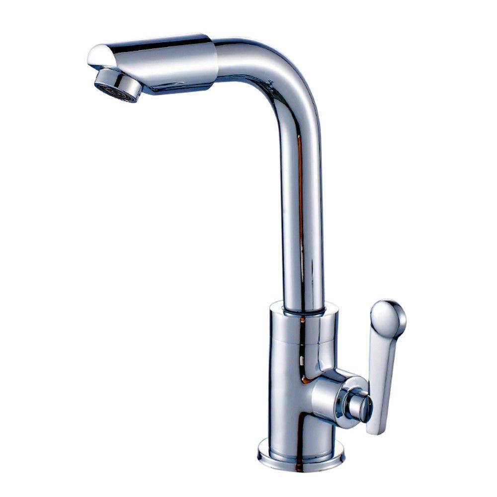 MEIBATH Küchenarmatur Spültischarmatur Mischbatterie Spiralfederhahn Messing Schwenkbar kaltes Wasser 1 Loch Edelstahl C Wasserhahn