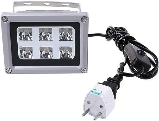 Fafalloagrron - Luz de curado de resina UV 405 nm lámpara LED ...