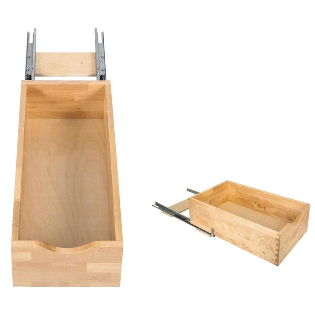 Hardware Resources RO12-WB Rollout Shelf System, White Birch by Hardware Resources