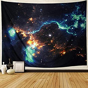 Leofanger Galaxy Tapestry Wall Hanging Landscape Planet Tapestry Space Tapestry Moon Tapestry Milky Way Tapestry Night Starry Sky Tapestry Universe Tapestry Trippy Tapestry Psychedelic Wall Art